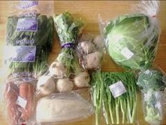 初めて大地宅配のお野菜を体験しました☆