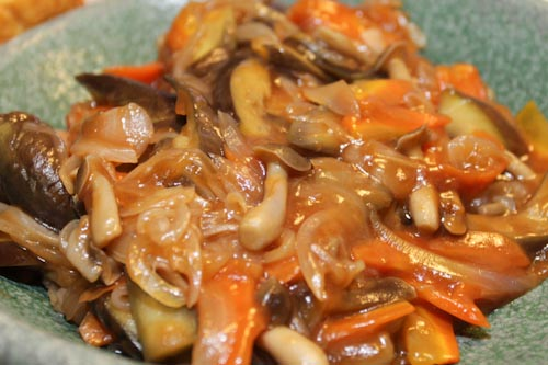 熊本県産の茄子で作った麻婆茄子(オイシックスの産地限定野菜)