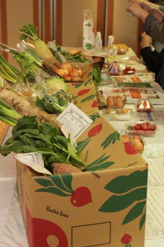 らでぃっしゅぼーやの野菜セット「ぱれっと」の写真撮影